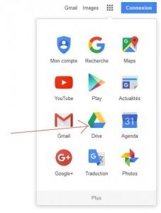 Partage de document sur Google Drive