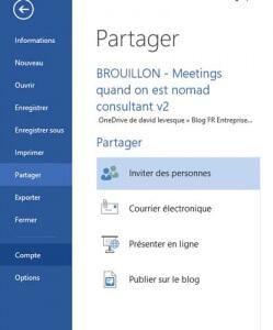 Partager et collaborer sur un document avec Microsoft Office 365