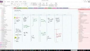 Stratégie d'entreprise : exemple de planning hebdo avec OneNote