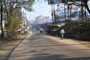 Une route en périphérie de Ranchi