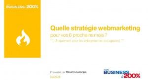 Conférence live youtube : Stratégie web marketing pour vos 6 prochains mois