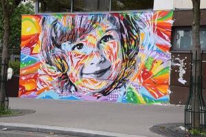 Peinture sur mur, street art
