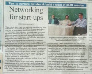 """Networking for startups"", The telegraph"