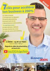 analyse d'une affiche publicitaire Affiche A4 Atelier - 7 clés pour accélérer ton entreprise à 200